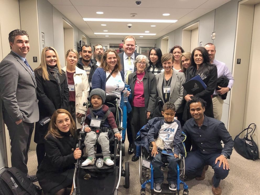 PHOTO: Parents of children with AFM met with the Deputy Director of the CDC, Dr. Anne Schuchat, along with other officials in Washington on Nov. 13, 2018, to discuss ways to improve reporting of AFM across the country.