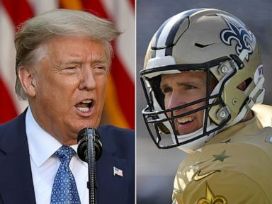 Trump says 'no kneeling' after latest in Drew Brees, National Anthem controversy