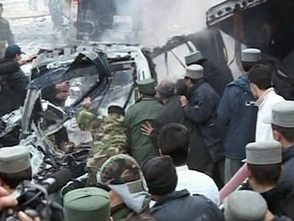 car bomb wreckage