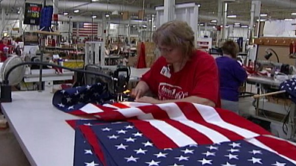 VIDEO: Annin Flagmakers uses only American materials and American workers.
