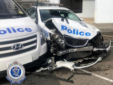 Van that crashed into police cars found carrying 140M of methamphetamine