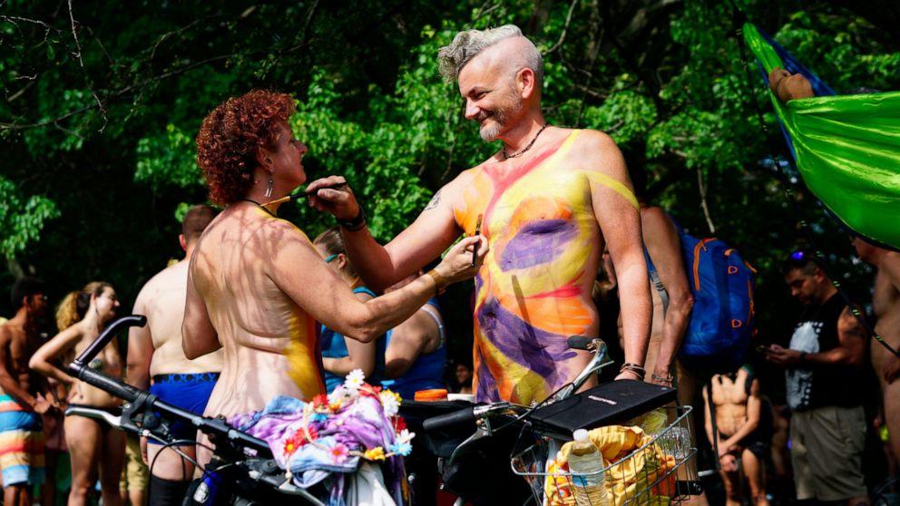 Strip down, saddle up: Naked bikers hit Philadelphia streets thumbnail