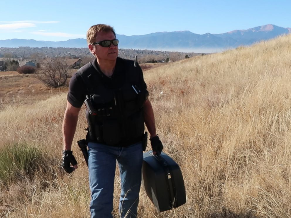 PHOTO: Chuck Zukowski considers himself an UFO investigator who searches for evidence of alien life along the 37th degree parallel of the United States, in Colorado Springs, Colo.