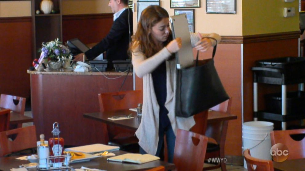 VIDEO: What Would You Do: Thief takes laptop while dining in restaurant