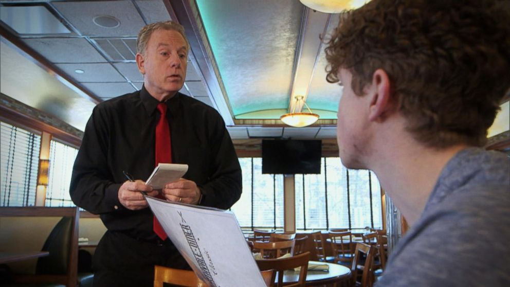 VIDEO: What Would You Do: Young man verbally berates elderly waiter
