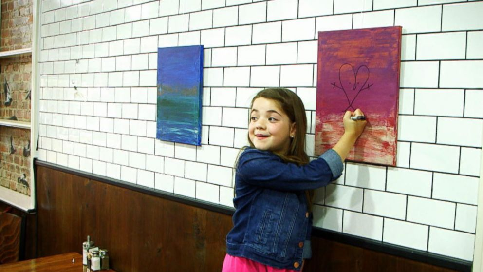 VIDEO: What Would You Do: Young girl damages paintings for sale with markers