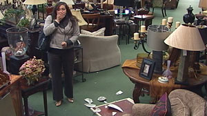 PHOTO: Will Shoppers Defend Clumsy Customer?: Hidden Cameras Capture Reactions When a Woman Drops an Expensive Vase in a Store