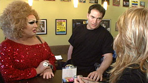 Photo: When drag queens Mimi and Jesse are publically harassed in a café, will anyone stick up for them?