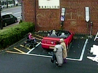 VIDEO: What would you do if you saw someone park in an area meant for the disabled?