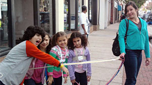 Photo: Kids on a Leash: She Tied Me to a Pole: Would You Confront Mom Who Puts Kids on a Leash, Treats Kids Like Dogs?