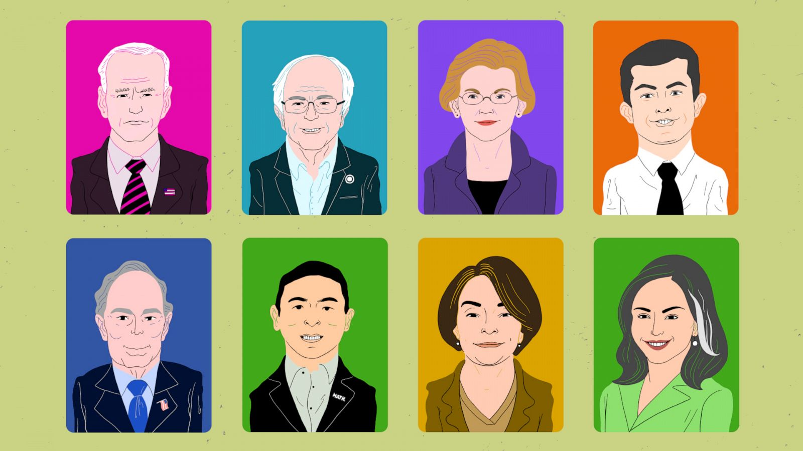 Which Democratic Candidate Had The Biggest Surge In Popularity This Year?