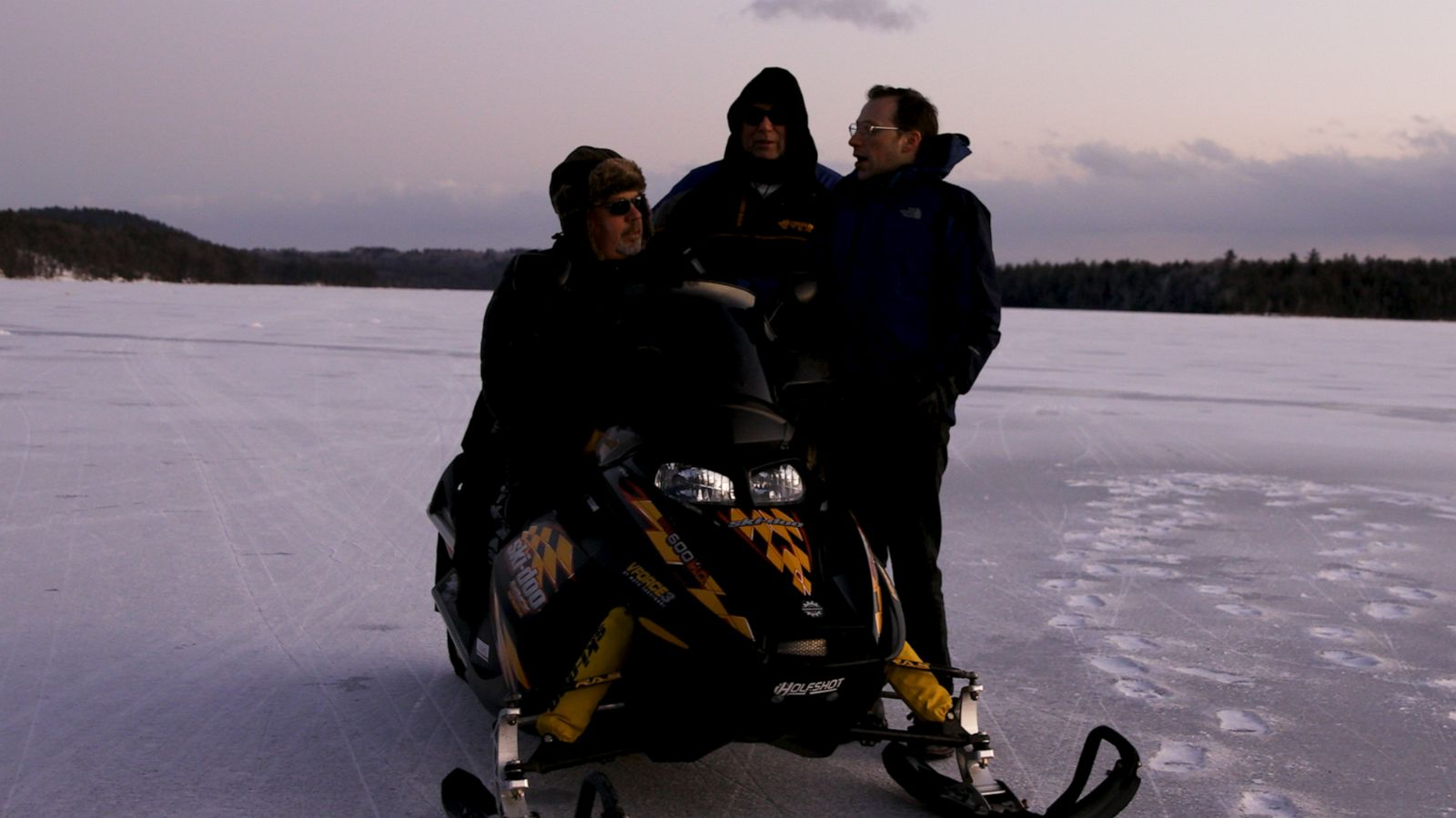 Galen goes ice fishing in Massabesic Lake, NH