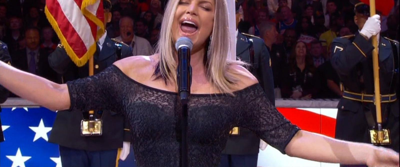 VIDEO: Fergie performs national anthem at NBA All-Star Game