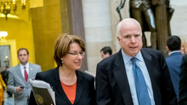 Sen. Amy Klobuchar reminisces about her relationship with Sen. McCain
