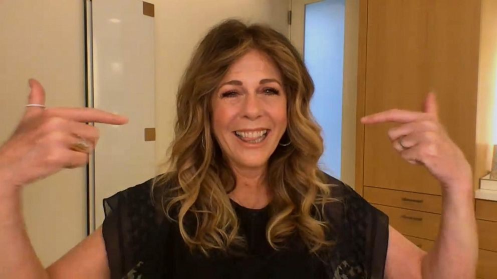 Rita Wilson says going makeup free in quarantine is a path toward self-acceptance