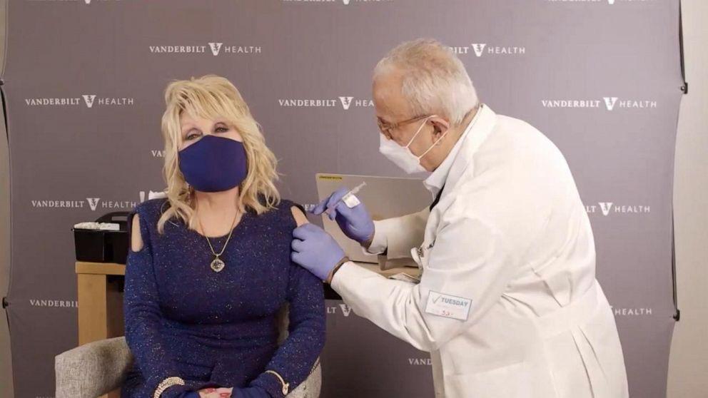 Dolly Parton Getting Moderna Vaccine