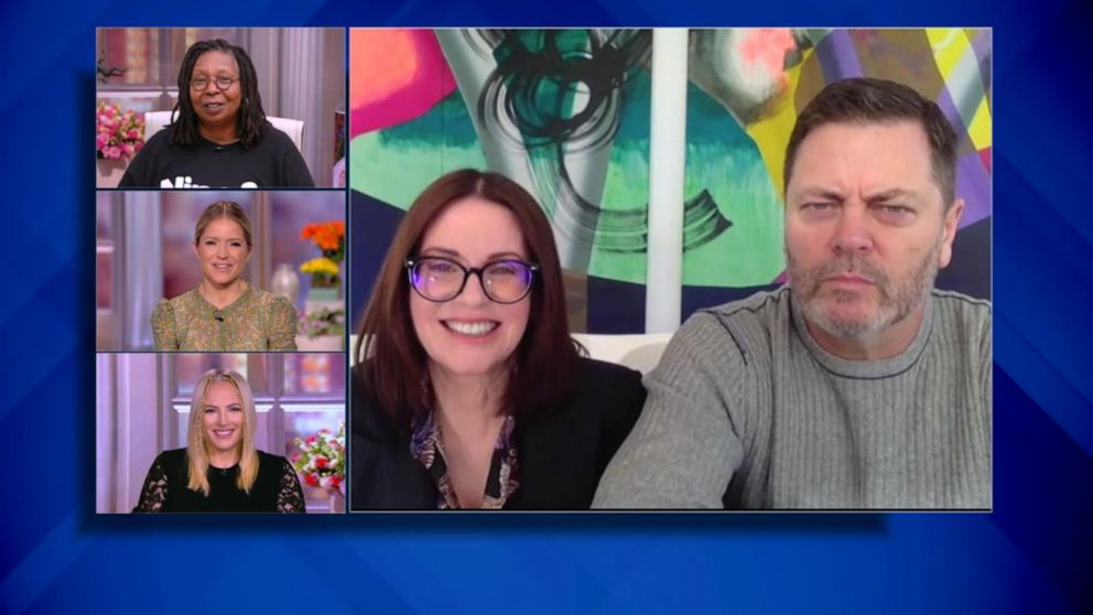 Megan Mullally and Nick Offerman on new show 'The Great North'