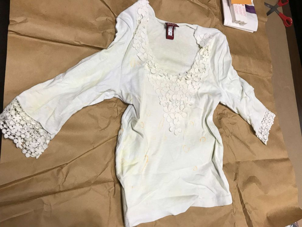 PHOTO: A white blouse found in the Melgars jacuzzi is the subject of further investigation from Bob Ruff and his podcast listeners.