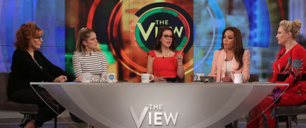 "PHOTO: Alyssa Milano joined ""The View"" on May 18, 2018, to discuss her activism with the #MeToo movement and working to get care for those with mental illness."