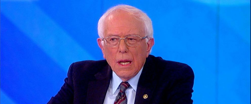 "PHOTO: Sen. Bernie Sanders speaks on ""The View,"" Nov. 26, 2018."