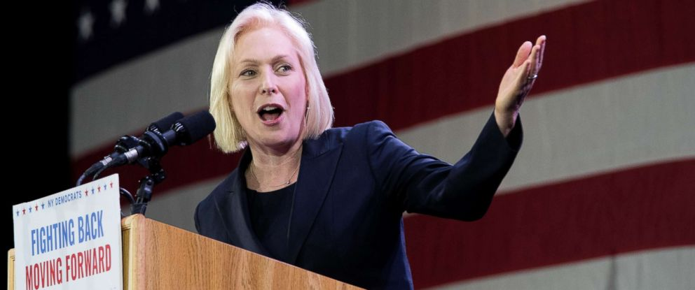 PHOTO: Sen. Kirsten Gillibrand, speaks to supporters during an election night watch party hosted by the New York State Democratic Committee, Nov. 6, 2018, in New York, after being re-elected.