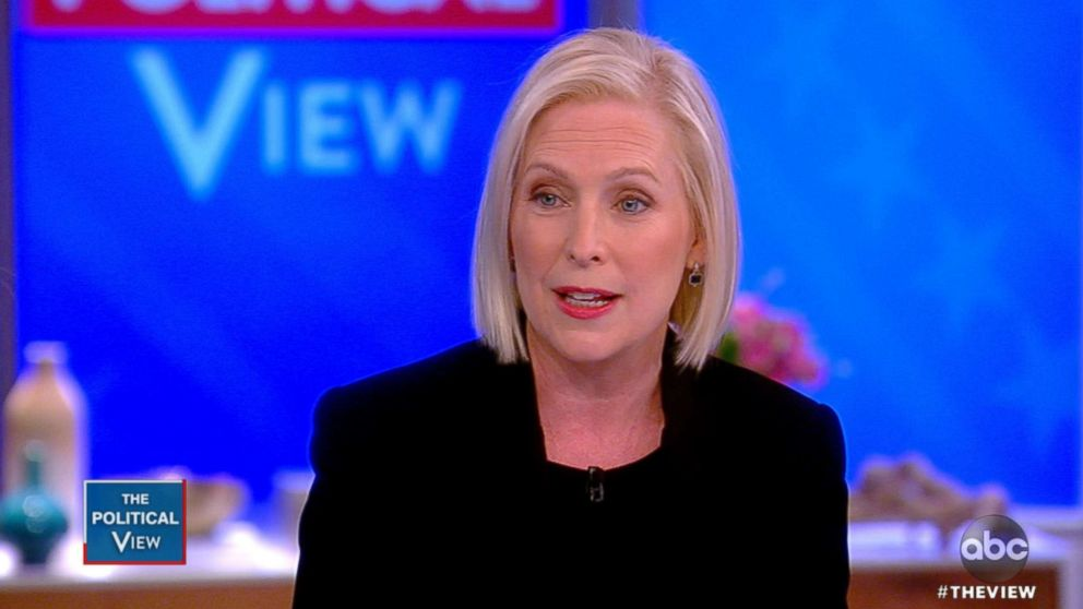 """Kirsten Gillibrand appears on """"The View,"""" Nov. 12, 2018."""
