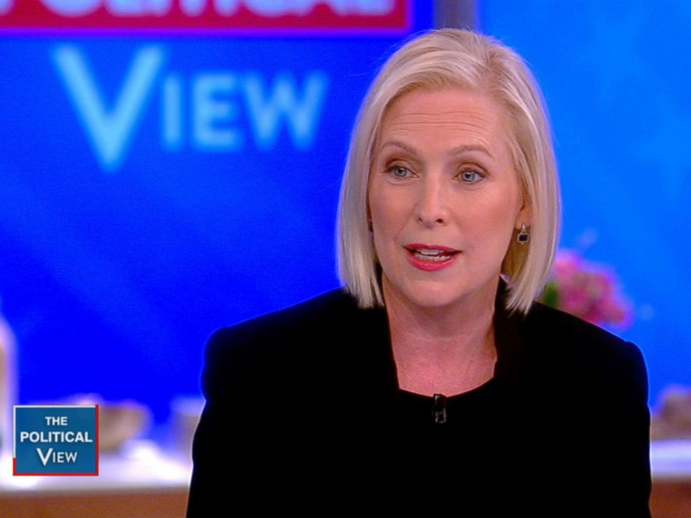 PHOTO: Kirsten Gillibrand appears on The View, Nov. 12, 2018.