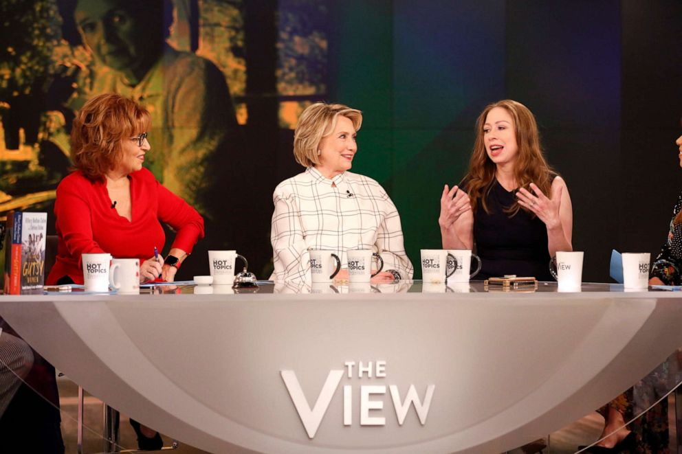 PHOTO: Hillary and Chelsea Clinton on on ABCs The View, Oct. 2, 2019.