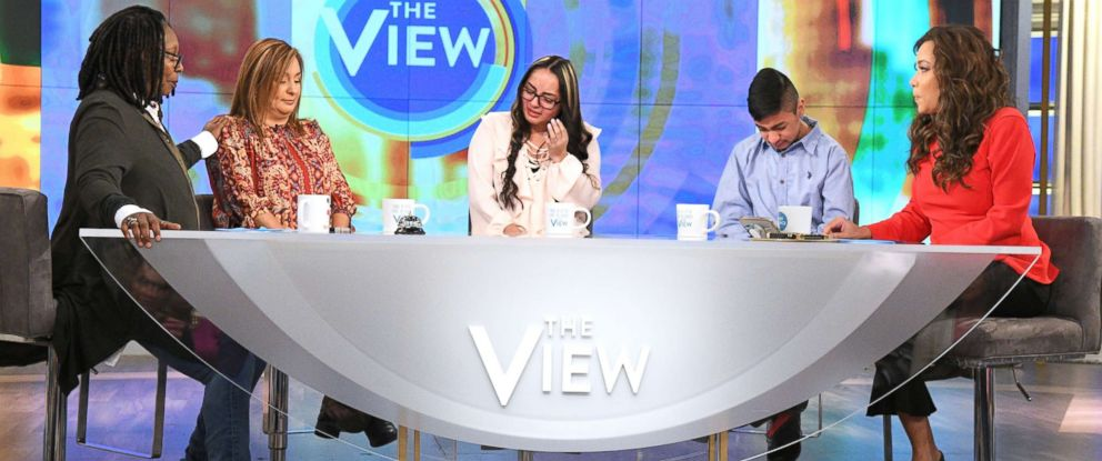"""PHOTO: Jorge Garcia, an undocumented husband and father of two, and his family today spoke out on """"The View"""" about his deportation to Mexico this week after living in the United States for 30 years."""
