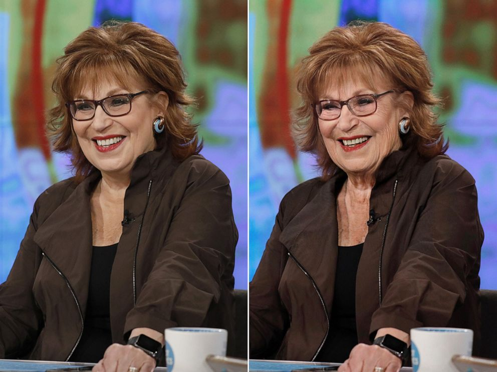 PHOTO: Joy Behar shares her results from using an age-filter on their photos, July 17, 2019.