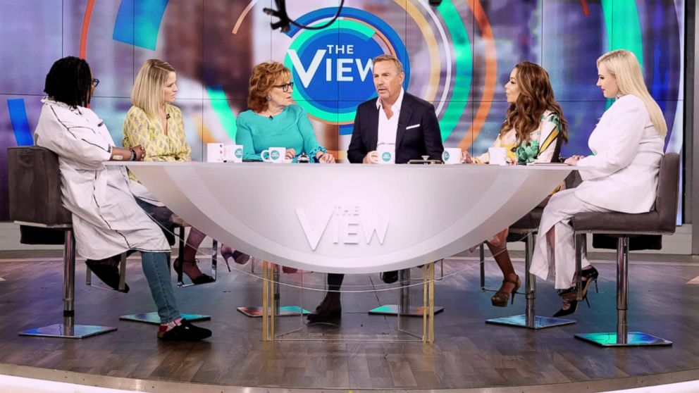 Kevin Costner appears on ABC's 'The View', June 19, 2018.