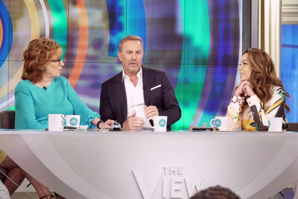 PHOTO: Kevin Costner appears on ABCs The View, June 19, 2018.