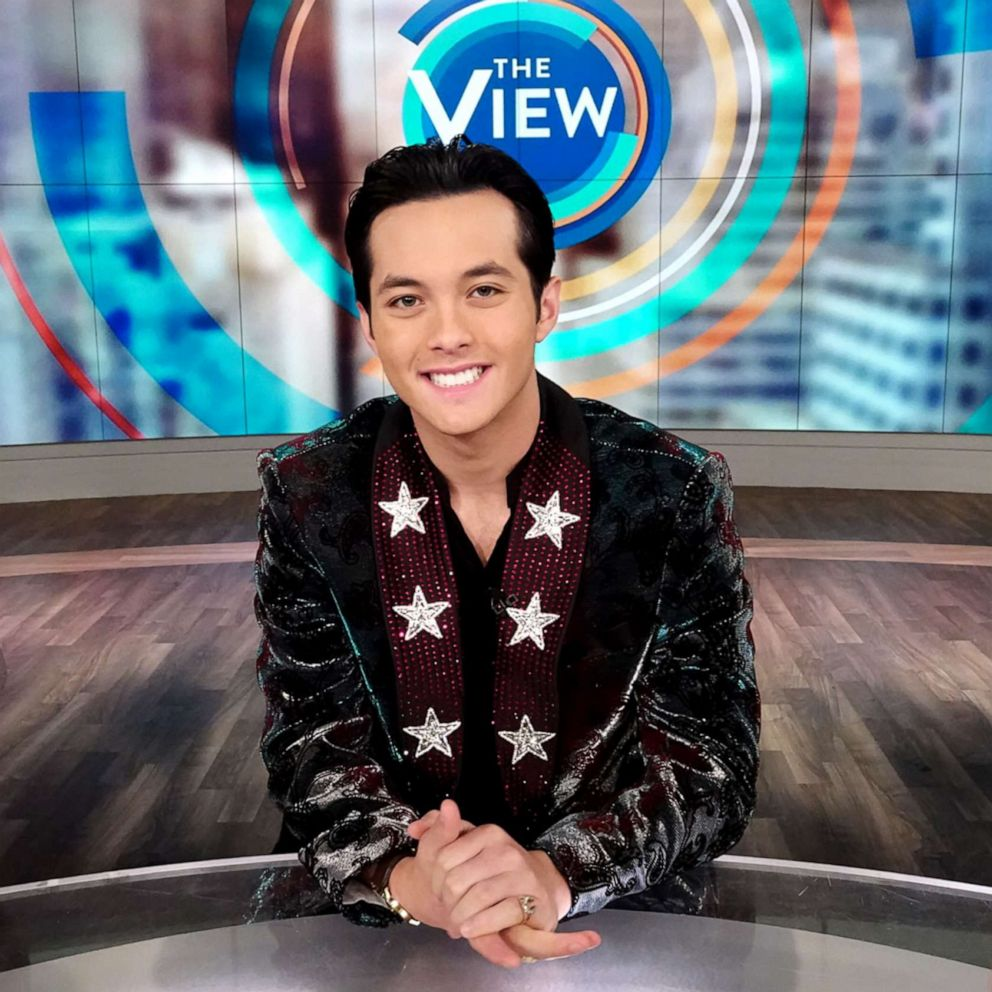 PHOTO: Laine Hardy appears on The View after he won season 17 of American Idol.