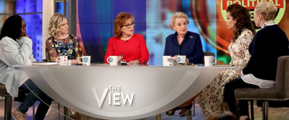 "PHOTO: Madeleine Albright joined ABCs ""The View"" to discuss North Korea, Syria and President Trumps handling of the Russia probes, March 10, 2018."