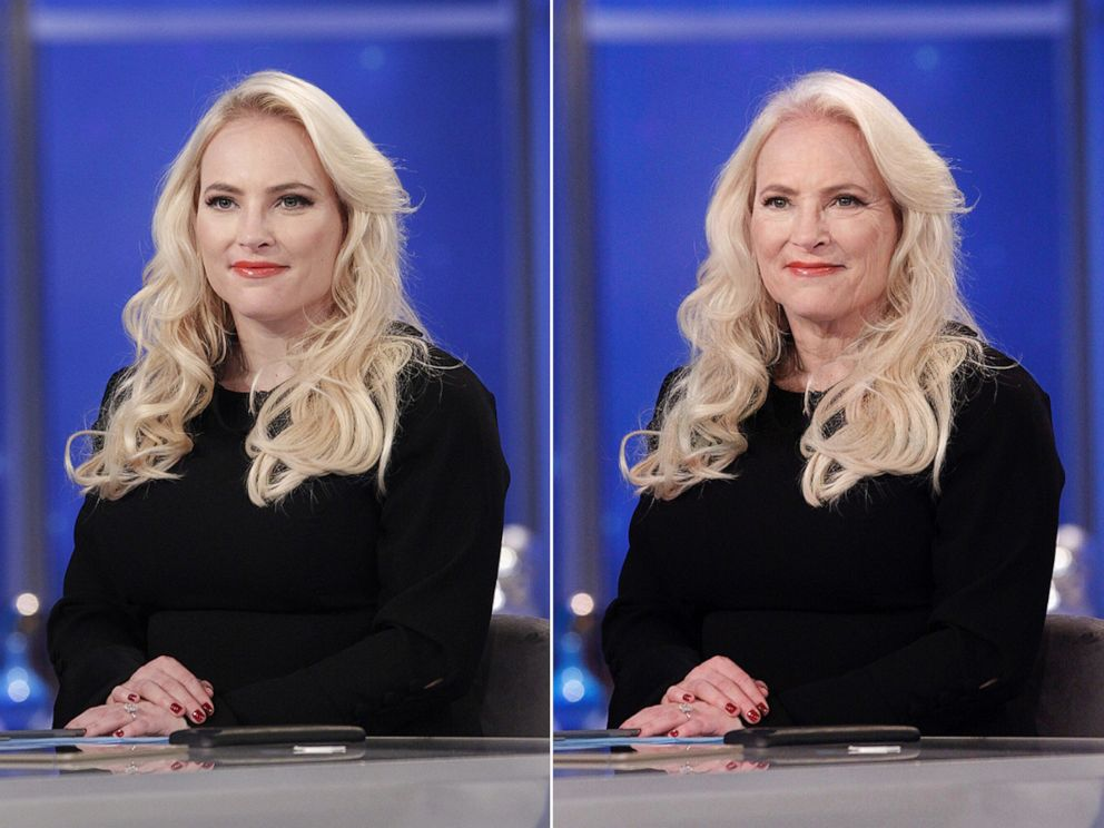 PHOTO: Meghan McCain shares her results from using an age-filter on their photos, July 17, 2019.