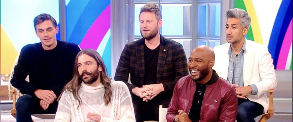 "PHOTO: The hosts of ""Queer Eye"" appear on ""The View"" on Nov. 28, 2018."