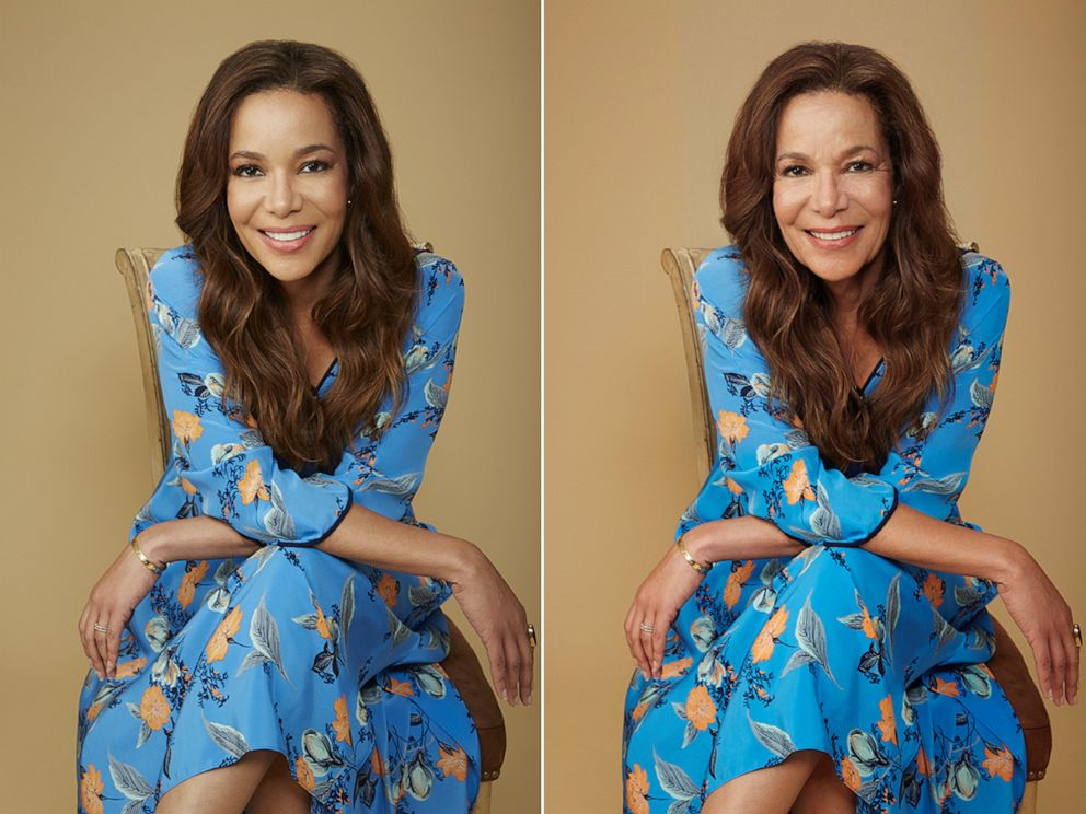 PHOTO: Sunny Hostin shares her results from using an age-filter on their photos, July 17, 2019.