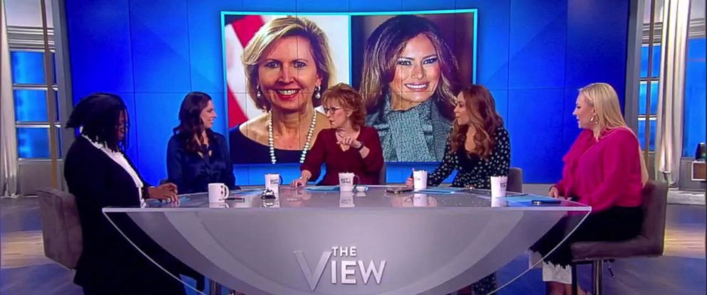 """PHOTO: """"The View"""" weighed in on headlines that the normally very private first lady publicly called for the deputy national security adviser to be dismissed, Nov. 14, 2018."""