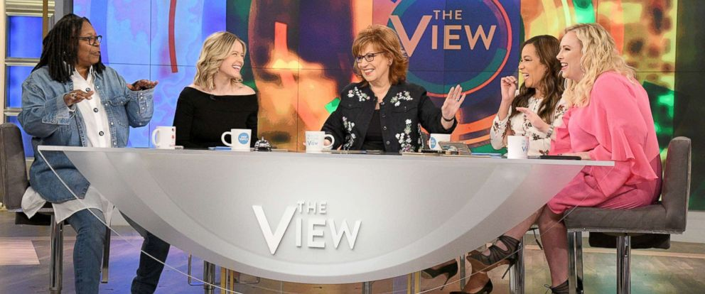 PHOTO: The View co-hosts, from left, Whoopi Goldberg, Sara Haines, Joy Behar, Sunny Hostin and Meghan McCain.