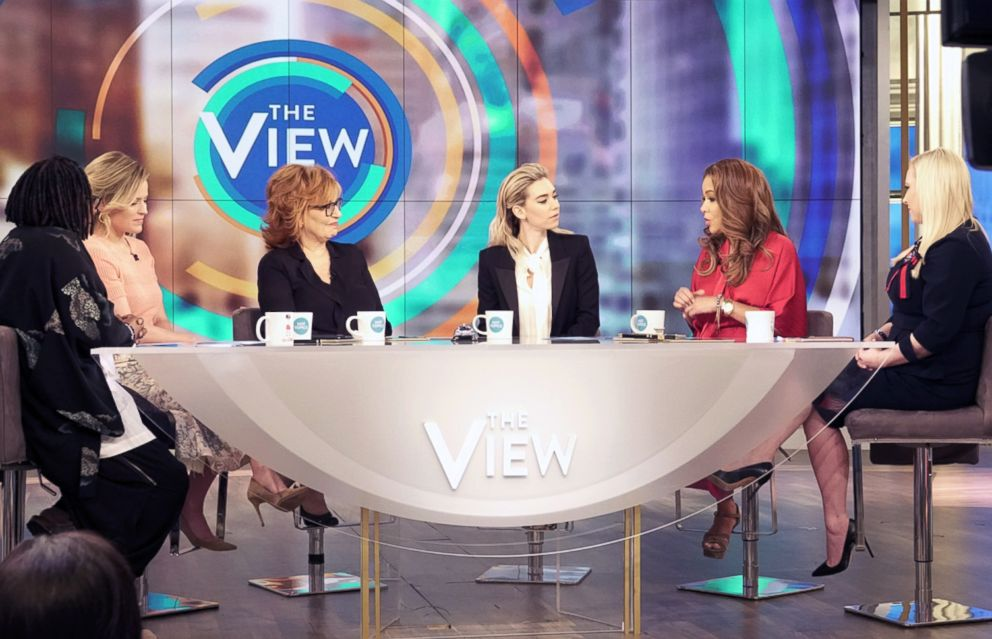 PHOTO: The Crown star Vanessa Kirby joined The View to discuss Tom Cruise dating rumors, how Meghan Markle is changing the royal family.