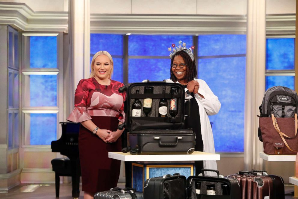 Whoopi Goldberg shares her favorite things with Meghan McCain including The Vingardevalise, a travel case designed to transport wine.